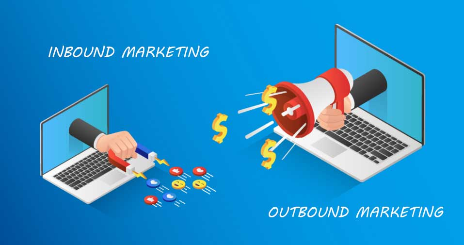 Différenciation entre l'inbound et l'outbound marketing