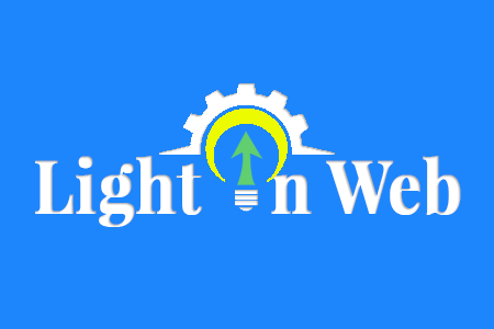 Logo composé d'une flèche de croissance à l'interieur d'une ampoule se trouvant elle même dans une roue dentée